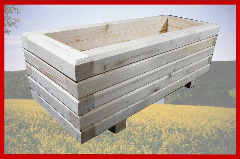 Pflanzkasten Holz Erzgebirge ~ Blumenkasten 140x40x36cm unbehandelt